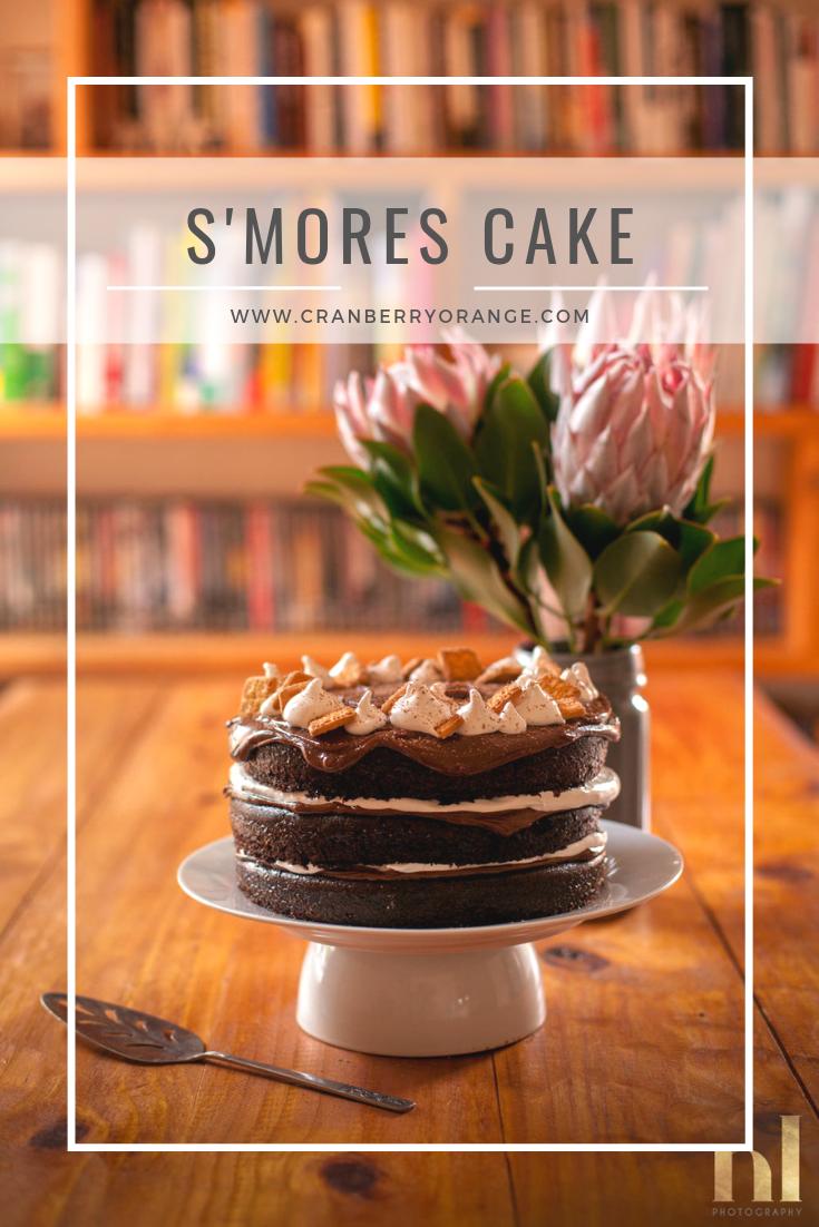 Chocolate S'mores Cake #easychocolatecake