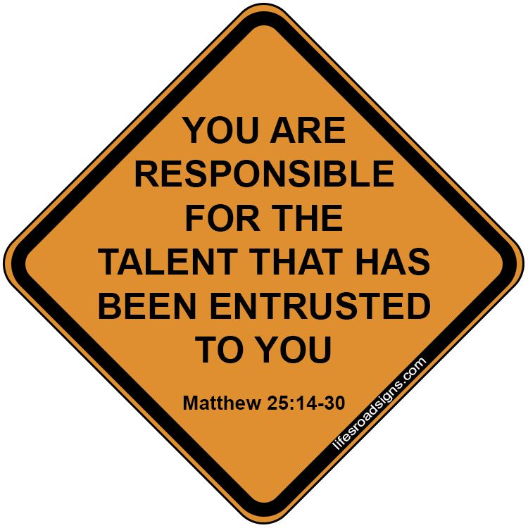 Develop your talents church sign sayings scripture