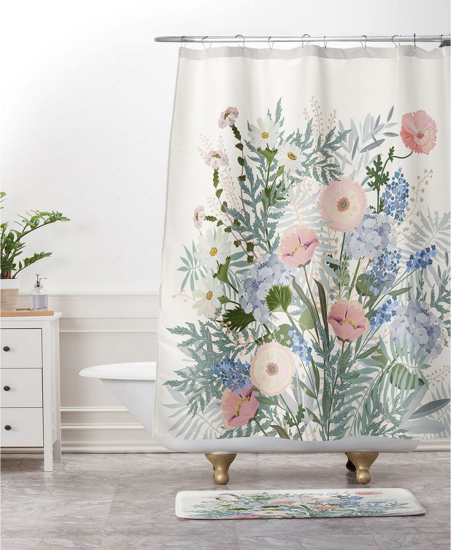 Deny Designs Iveta Abolina Scandi Ice Tan Bath Mat