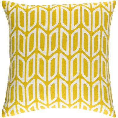 Artistic Weavers Trudy Nellie Cotton Throw Pillow Cover Color: Yellow/ White