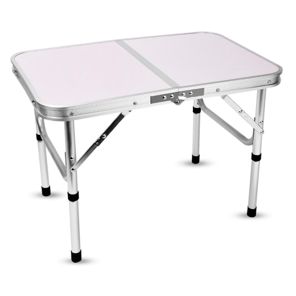 Patio Table Adjustable Height: Aluminum Folding Camping Table Laptop Bed Desk Adjustable
