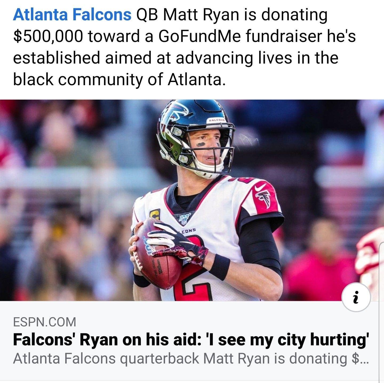 Mattryan Blm Jun2020 In 2020 Matt Ryan Football Helmets Black Community