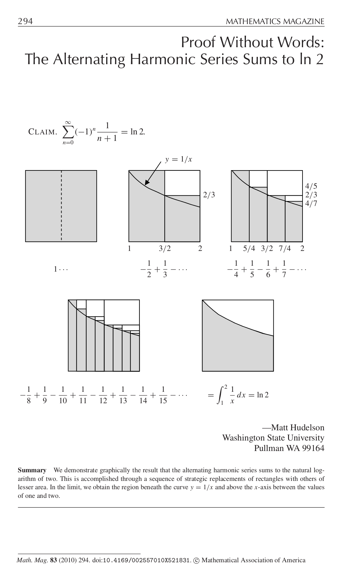 Proof Without Words Educational Academic Math Worksheet Assessment Cheatsheet