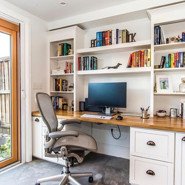 Top 50 Best Built In Desk Ideas Cool Work Space Designs Bookshelves Built In Built In Desk Home Office Furniture