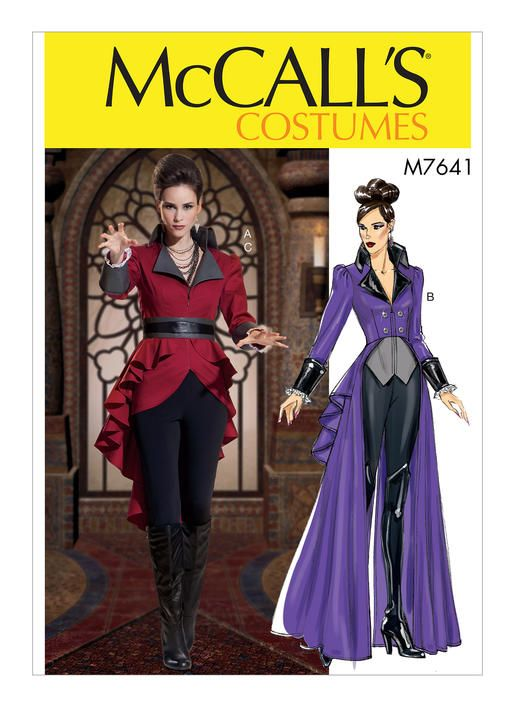 M7641 Misses Jacket Costume With Belt Once Upon A Time Ouat