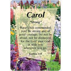 the name carol means   CAROL Name Card Female   Names with ...