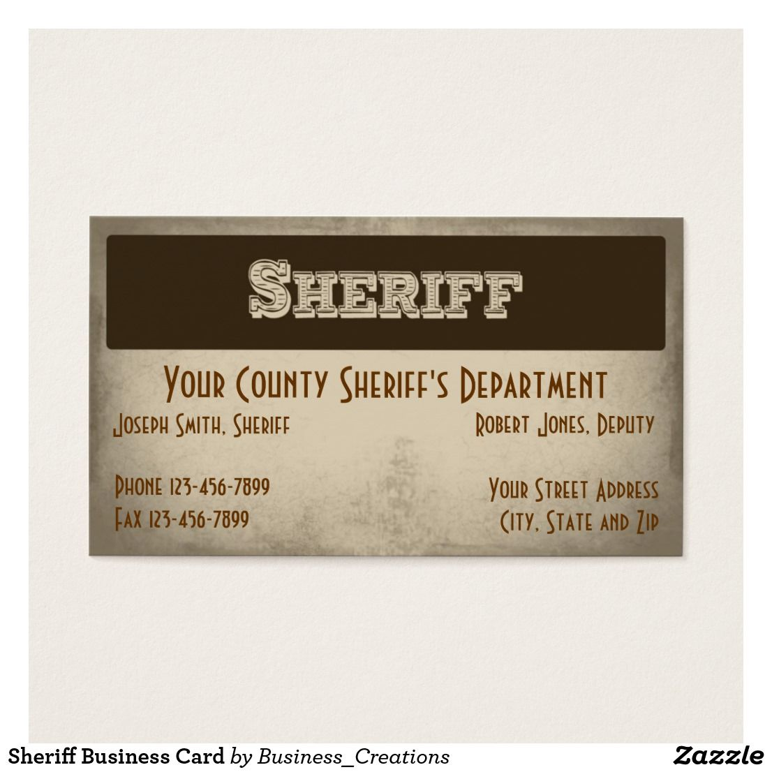 Sheriff business card sheriff business cards and business sheriff business card colourmoves