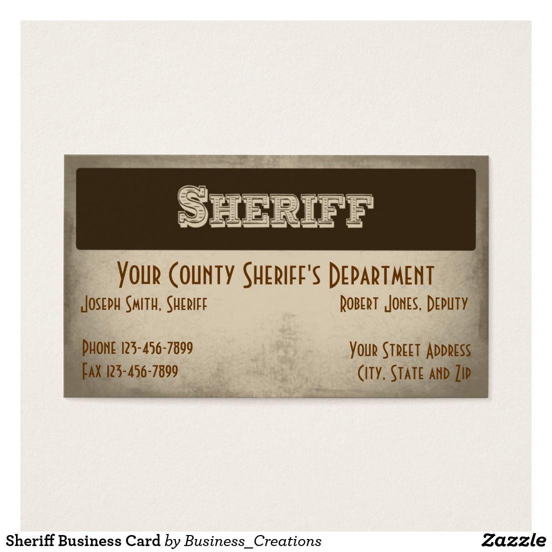 Sheriff business card pinterest sheriff business cards and business sheriff business card colourmoves