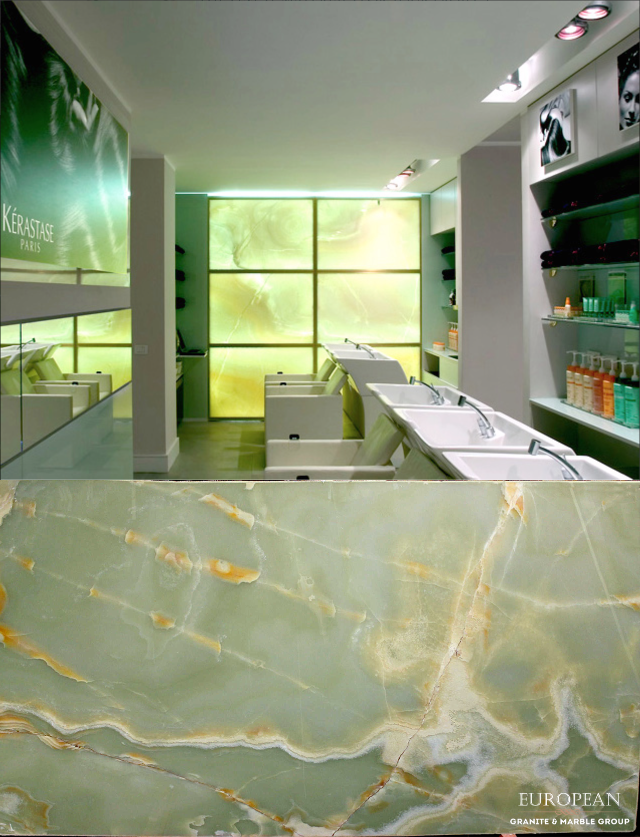 Our Basilico Green Onyx Is Transformed Into A Stunning Feature