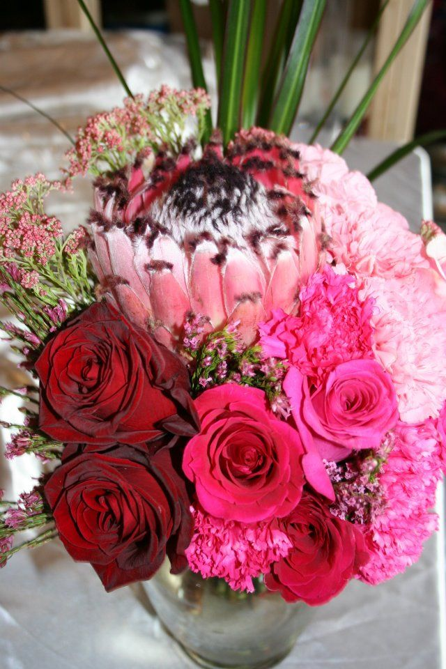 NSE Creation - King Protea\'s are amazing! Pink Ombre wedding bouquet ...