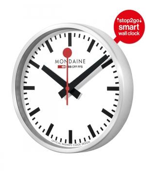 Smart Wall Clock Stop2go 25 Cm Msm 25s10 In 2020 Clock Swiss Railway Clock Swiss Railways