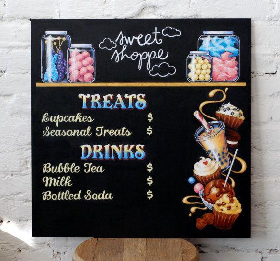 CUSTOM Small Chalkboard Menu Personalized Artwork By