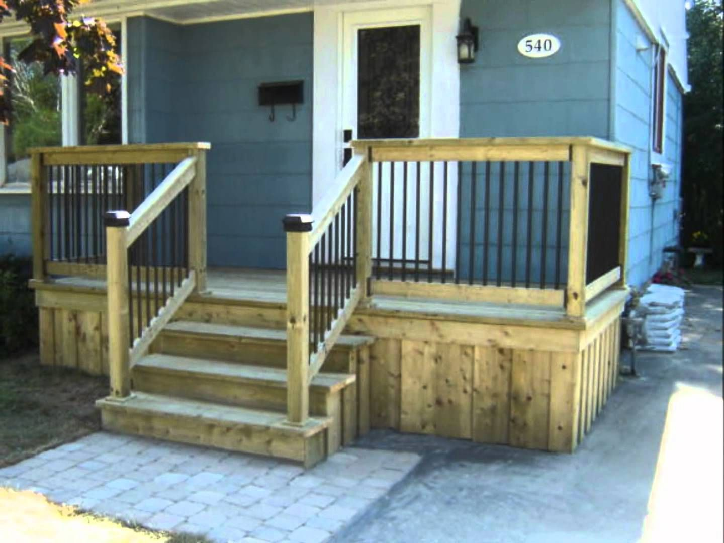 Best Front Deck Improvement Outdoor Stairs Building A Porch 400 x 300