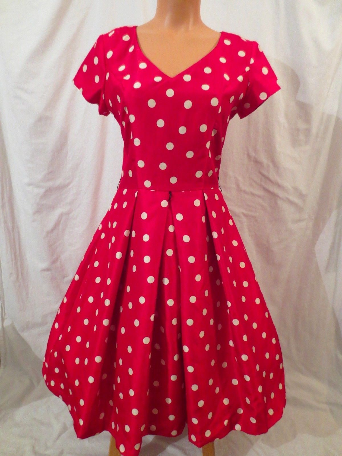 BOMBSHELL retro party dress - red white polka dot - $29.99 at JOHNNY BOMBSHELL #retro #rockabilly #holiday