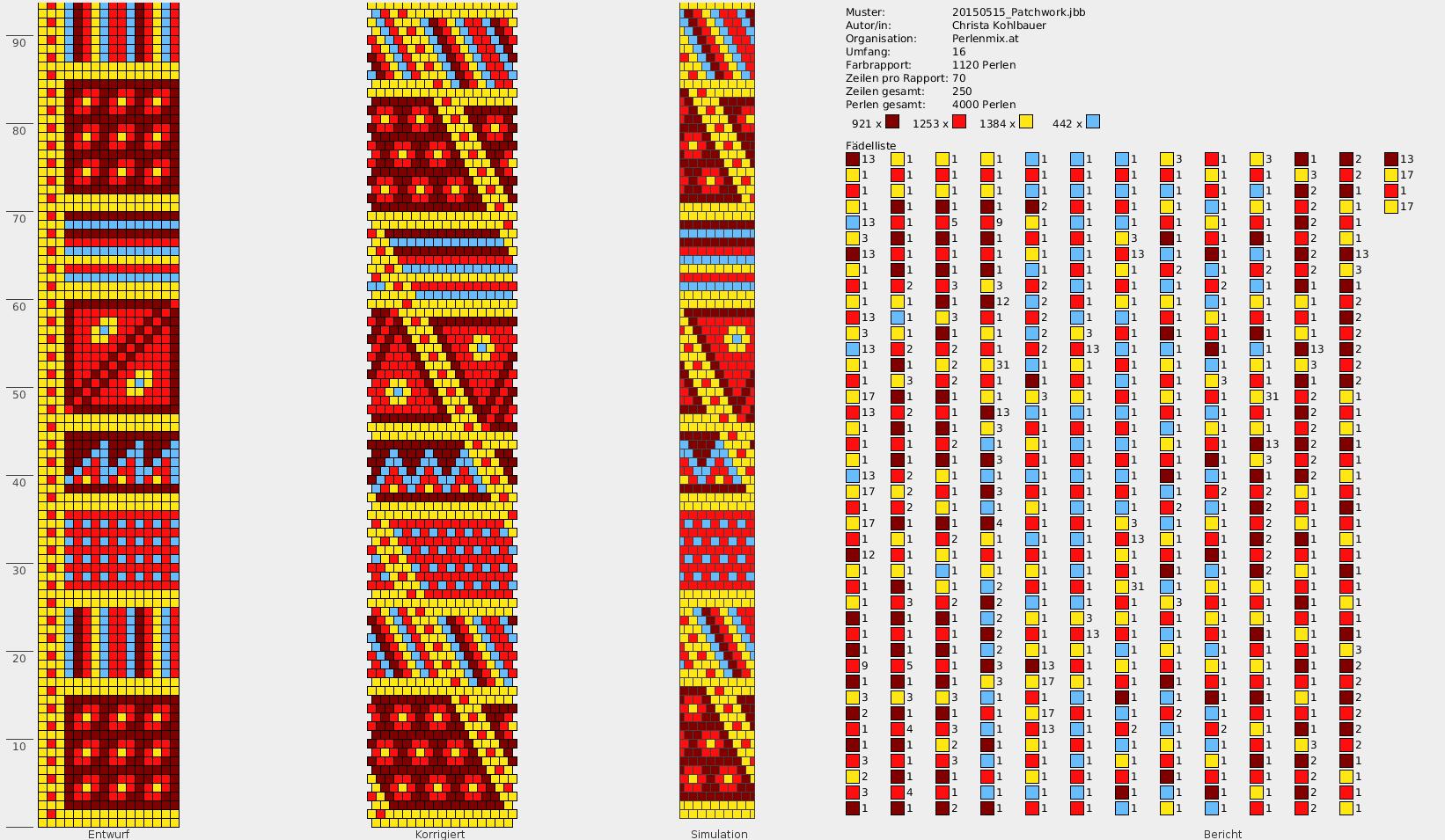Free Pattern für Kette \