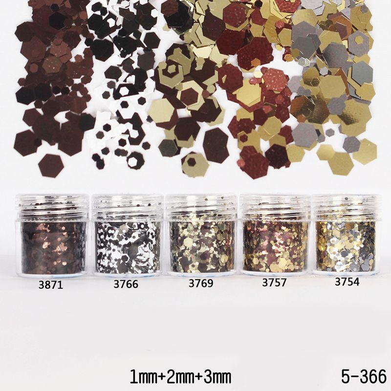 1box 10ml Mixed Coffee Black Silver Nail Glitters Powder Sheets Tips 1mm 2mm 3mm Nail Powder Nail Decoration In Nail Glitter From Decoracao De Unha Unhas Unha