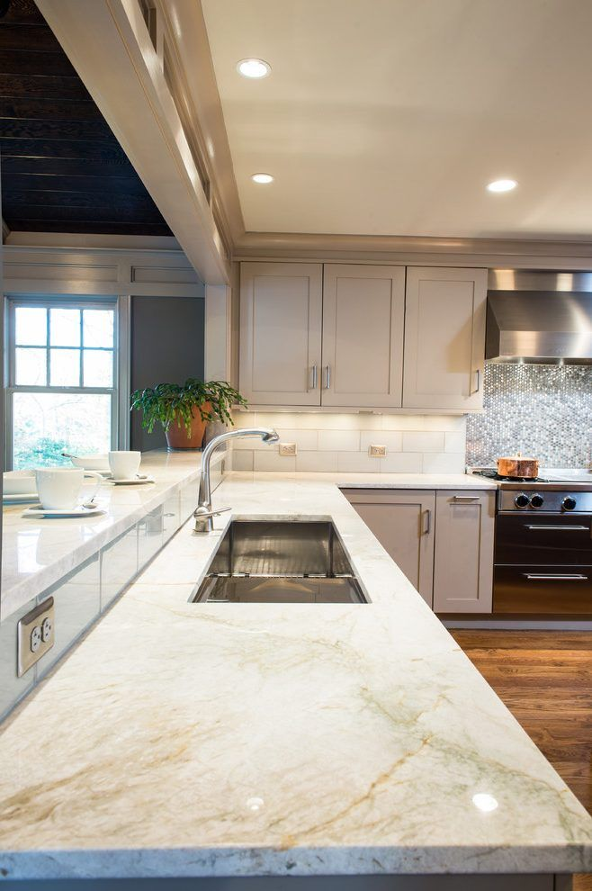 taj mahal quartzite countertop kitchen traditional with    should we do bar height for stools