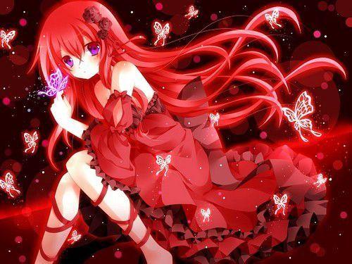 Kết quả hình ảnh cho anime màu đỏ