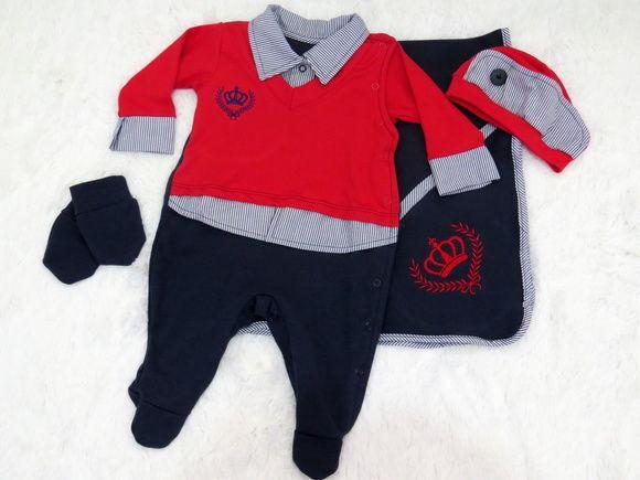 c17955eb0c68 Saída Maternidade Príncipe Vermelho   cosas del bebé   Saida ...