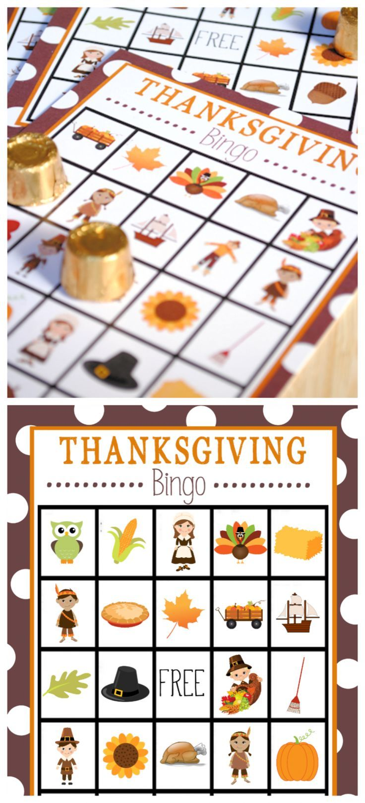 Free Printable Thanksgiving Bingo Game #thanksgivingdecorations