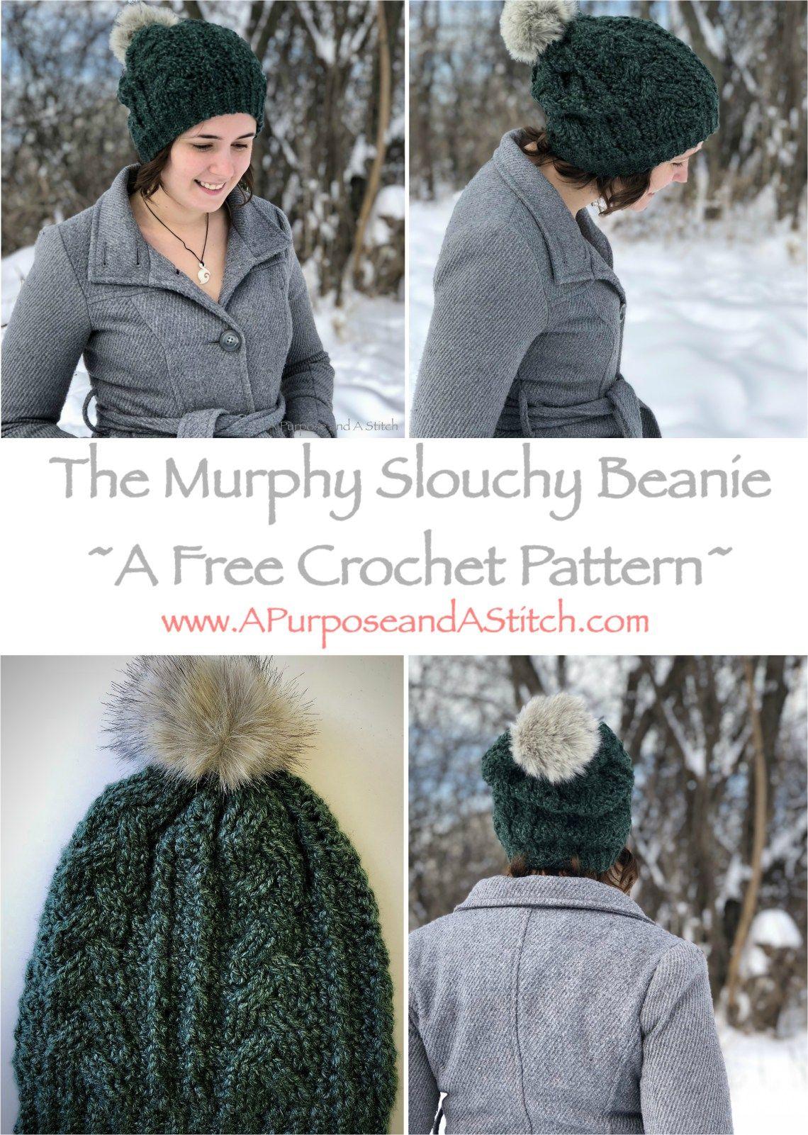 The Murphy Slouchy Beanie- Free Pattern