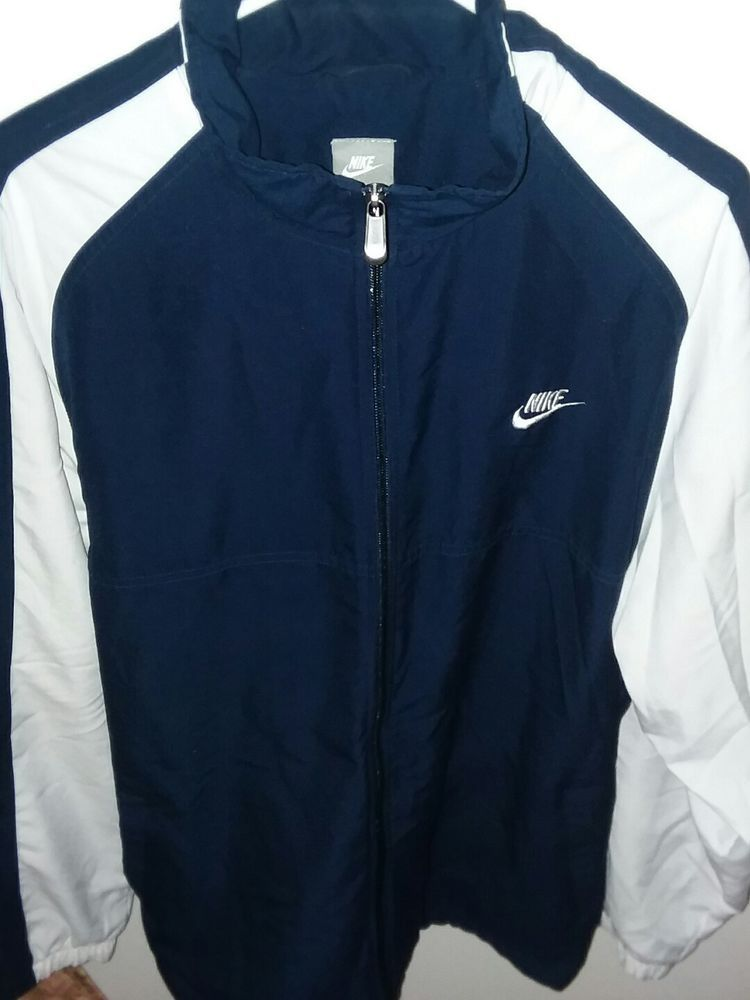 a28acd1ba66d Mens Nike Dri Fit Jacket XL Zip Front Blue White RN56323 CA05553  Nike   CoatsJackets. Find this Pin and more ...