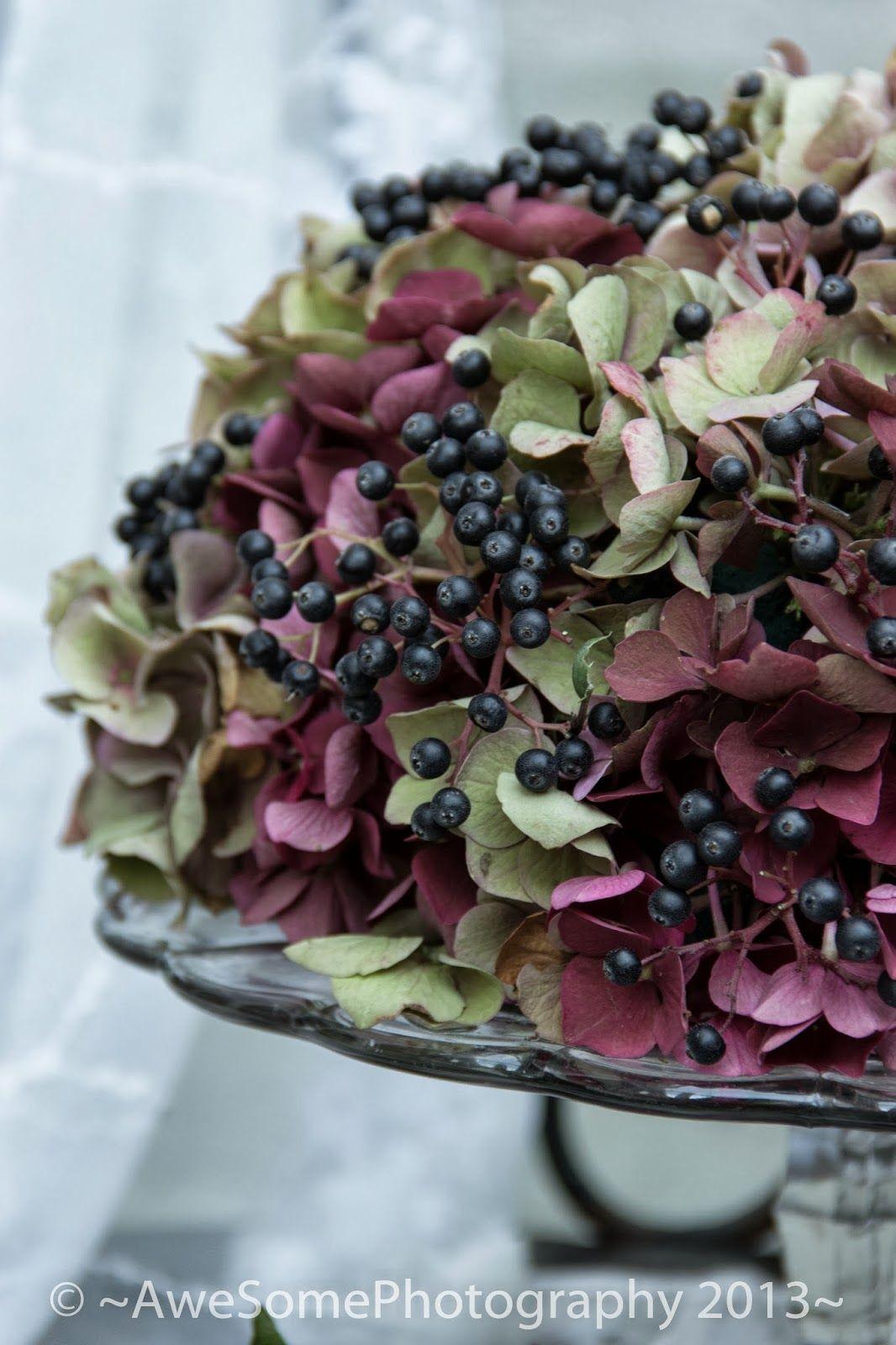autumn heather flower arrangments bouquets pinterest herbst herbstdeko und hortensien. Black Bedroom Furniture Sets. Home Design Ideas