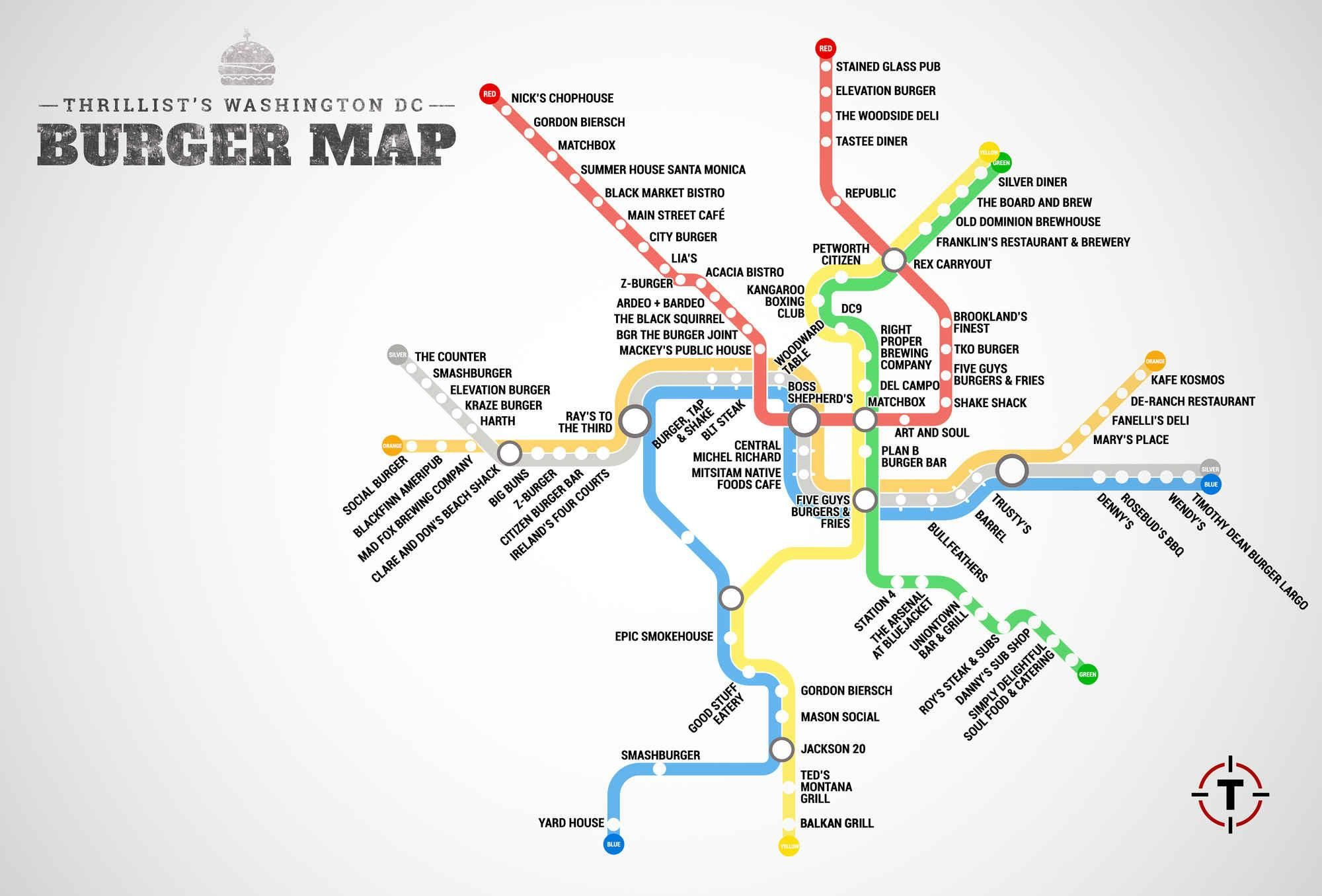 Real Dc Subway Map.Your Dmv Metro Burger Map Is Here Dc Inspiration Washington Dc