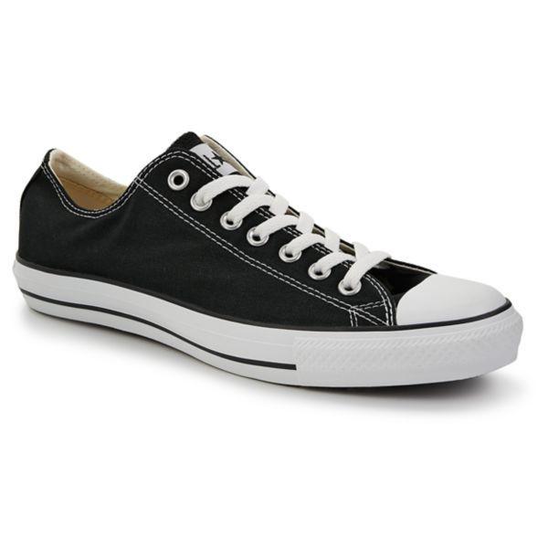 converse black low cut