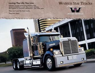 Blue Flat Top Western Star Trucks Big Trucks Trucks
