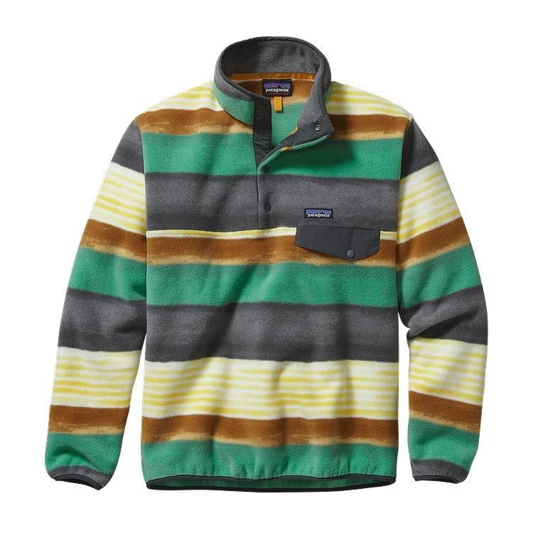 afbc6bea7558 Men s Patagonia - Lightweight Synchilla Snap-T Fleece Pullover - Painted  Fitz Stripe  Forge Grey