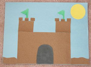 Sand Paper Castle Craft Castle Crafts Summer Crafts For Kids