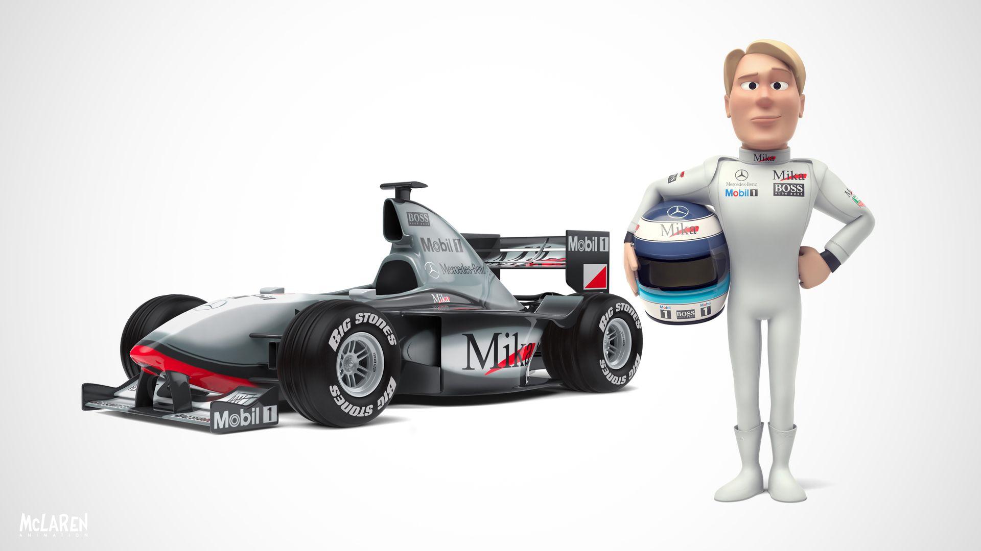 Tooned Mika Formula 1 Automoviles Autos [ 1080 x 1920 Pixel ]