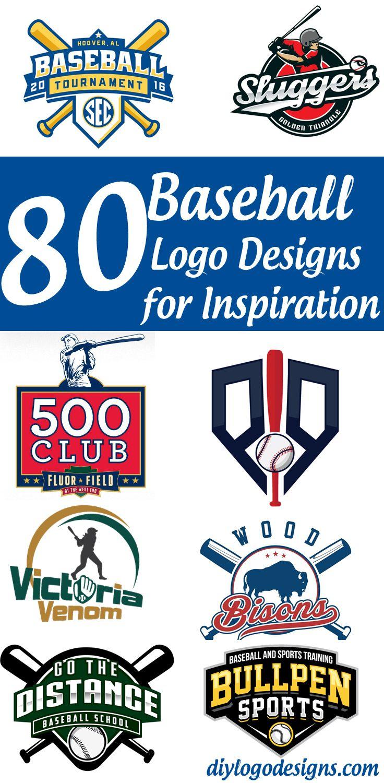 80 Baseball Logo Designs For Your Inspiration See Full Collection Logo Design Logo Design Diy Sports Logo Design