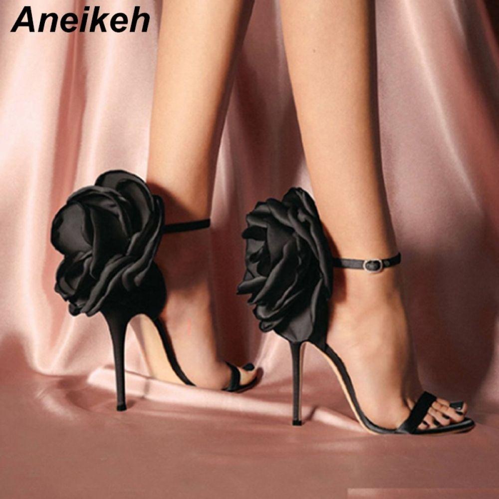 Aneikeh High Heel Shoes in 2020 | Floral high heels, Heels