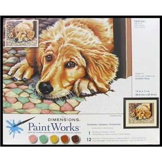 14 X 11 Dog Tired Paint By Number Shop Hobby Lobby