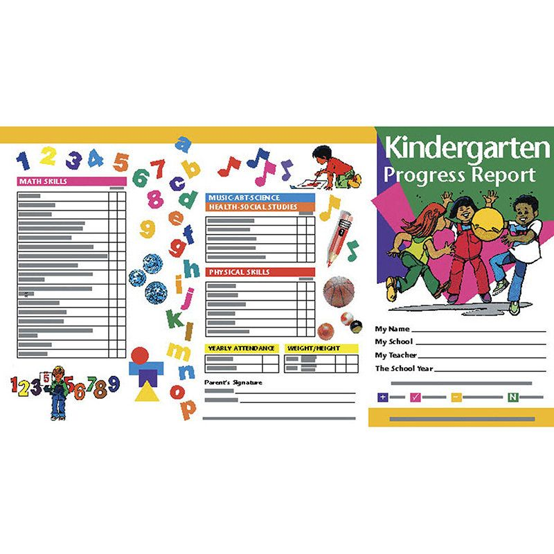 Kindergarten Progress Reports Chart (Set of 2) Products - contract management spreadsheet