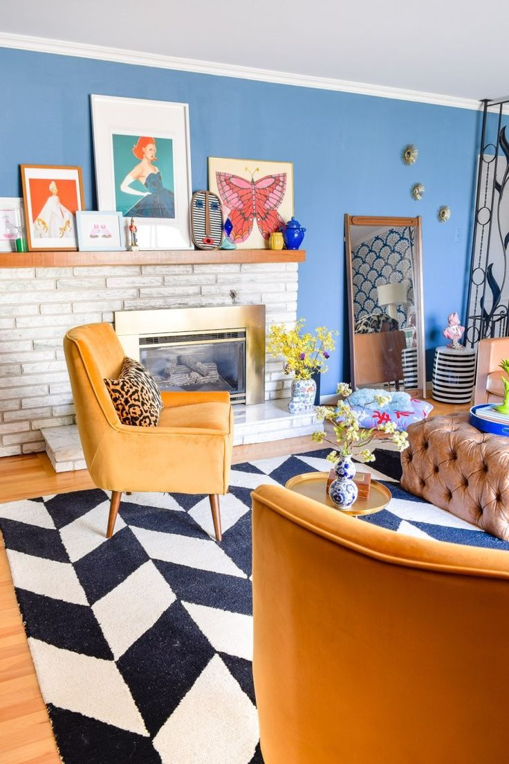 Our Mid Mod Eclectic Living Room is complete! It packs a punch and mixes old with new, through colour and pattern. #mcm #midmod #eclectichome # livingroom #mcmlivingroom