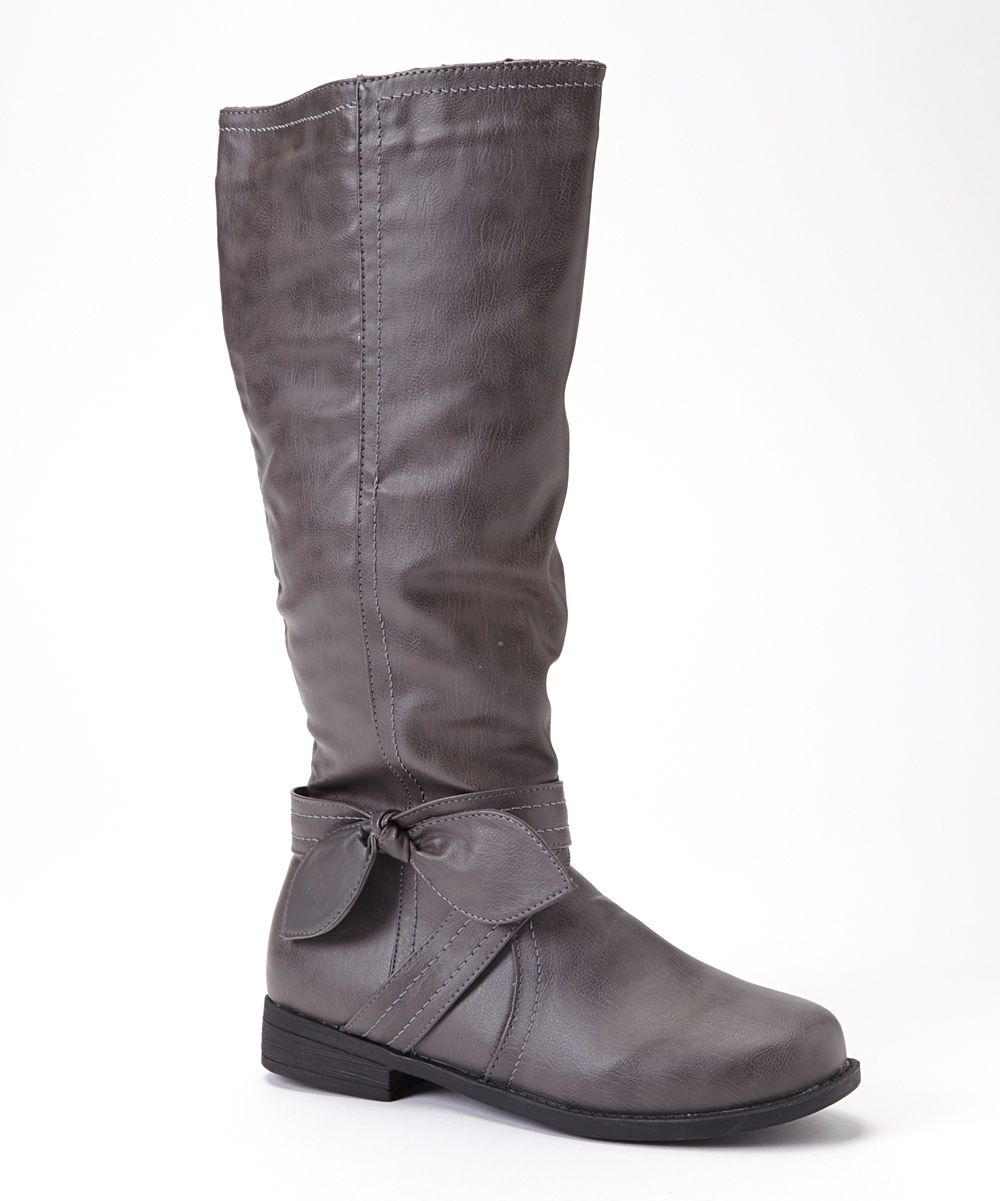 Gray Bow Boot | Daily deals for moms, babies and kids