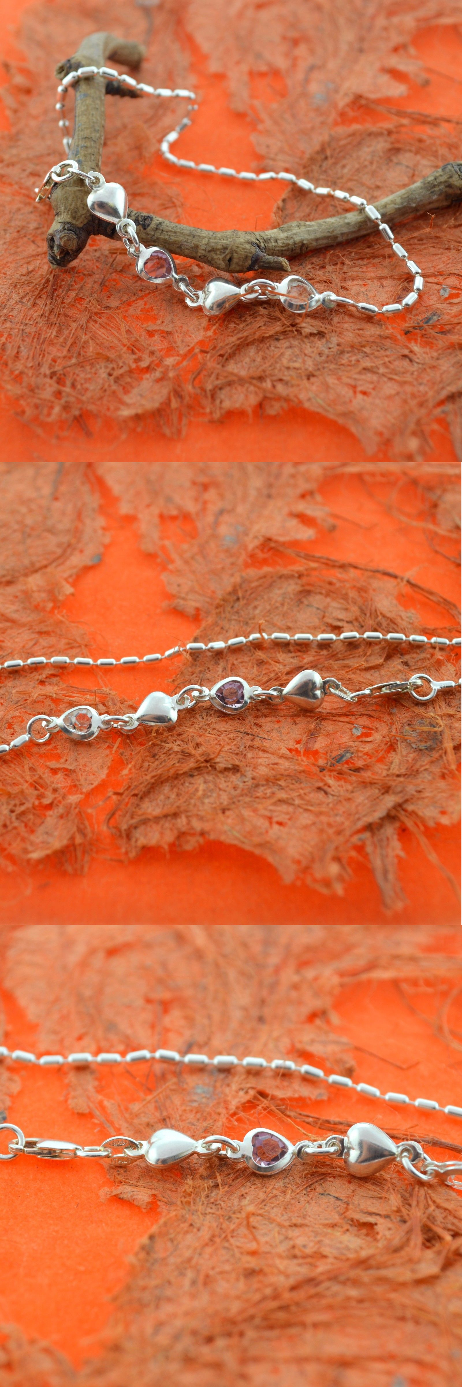 products silver chain sterling pearl anklet double satellite heart anklets dddb img collections