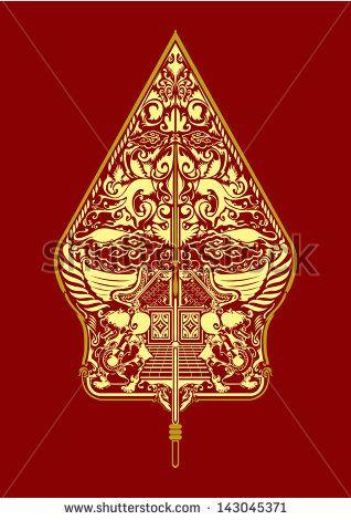 vector wayang gunungan indonesia indonesian art vector artwork batik art pinterest