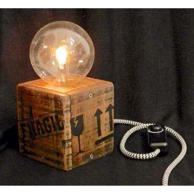 Vintage 100Diseño Lámpara Reciclada Dimerizable Madera OXPiukZ