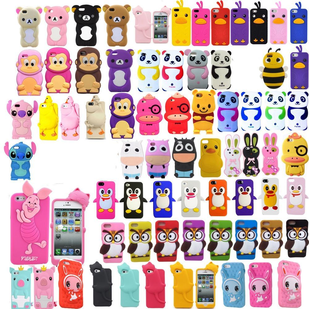 Hot 3D Cartoon Animals Soft Silicon Case Cover For Apple ...