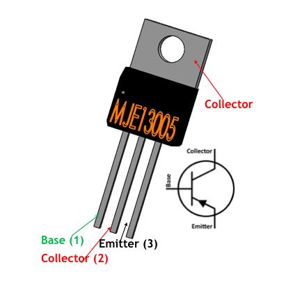 Mje13005 Pinout Transistors Electronics Basics Electronics Components