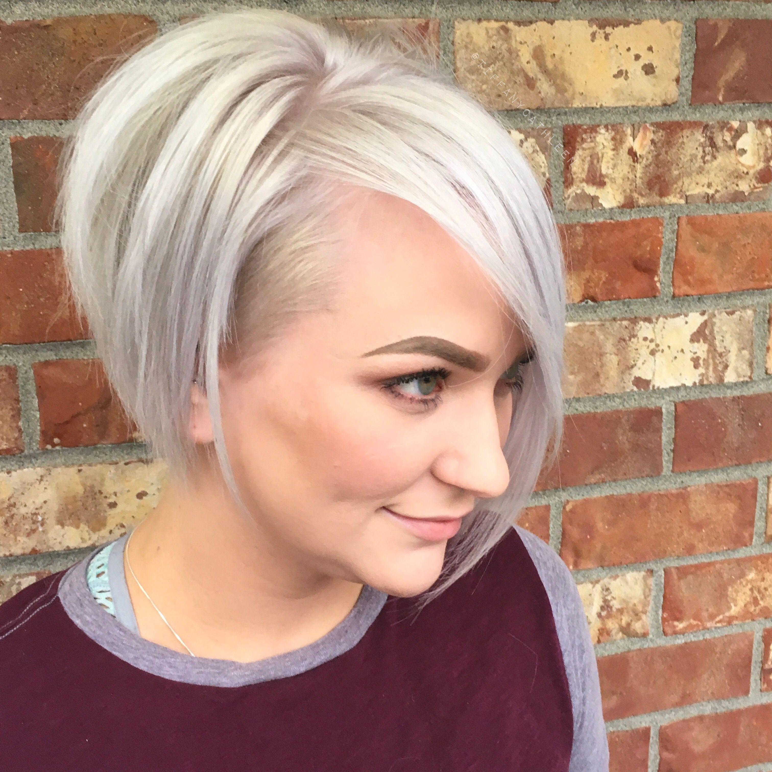 Platinum Blonde Undercut Pixie In 2019 Short Emo Hair