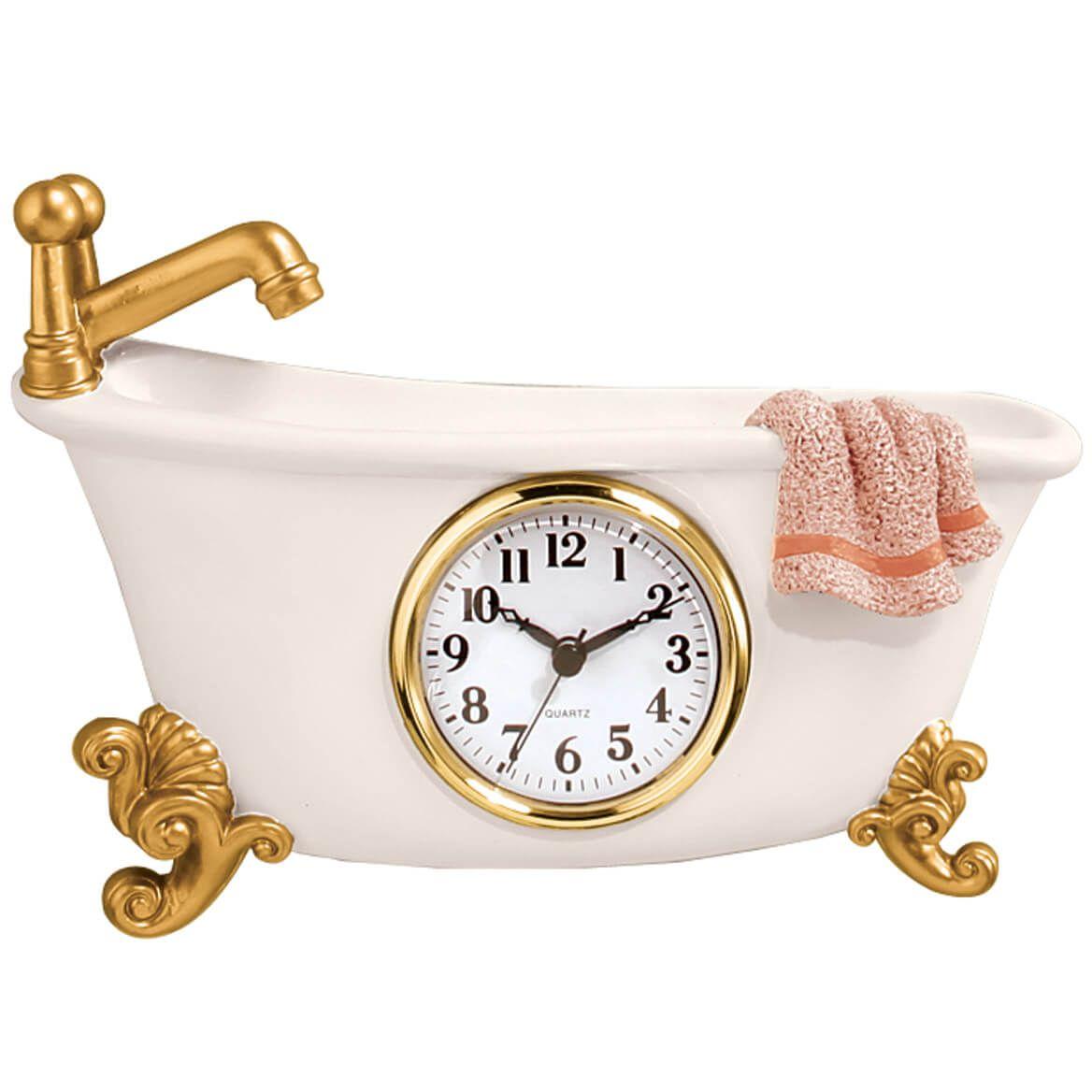 Claw Foot Style Bathtub Clock Bathroom Wall Clocks Vintage