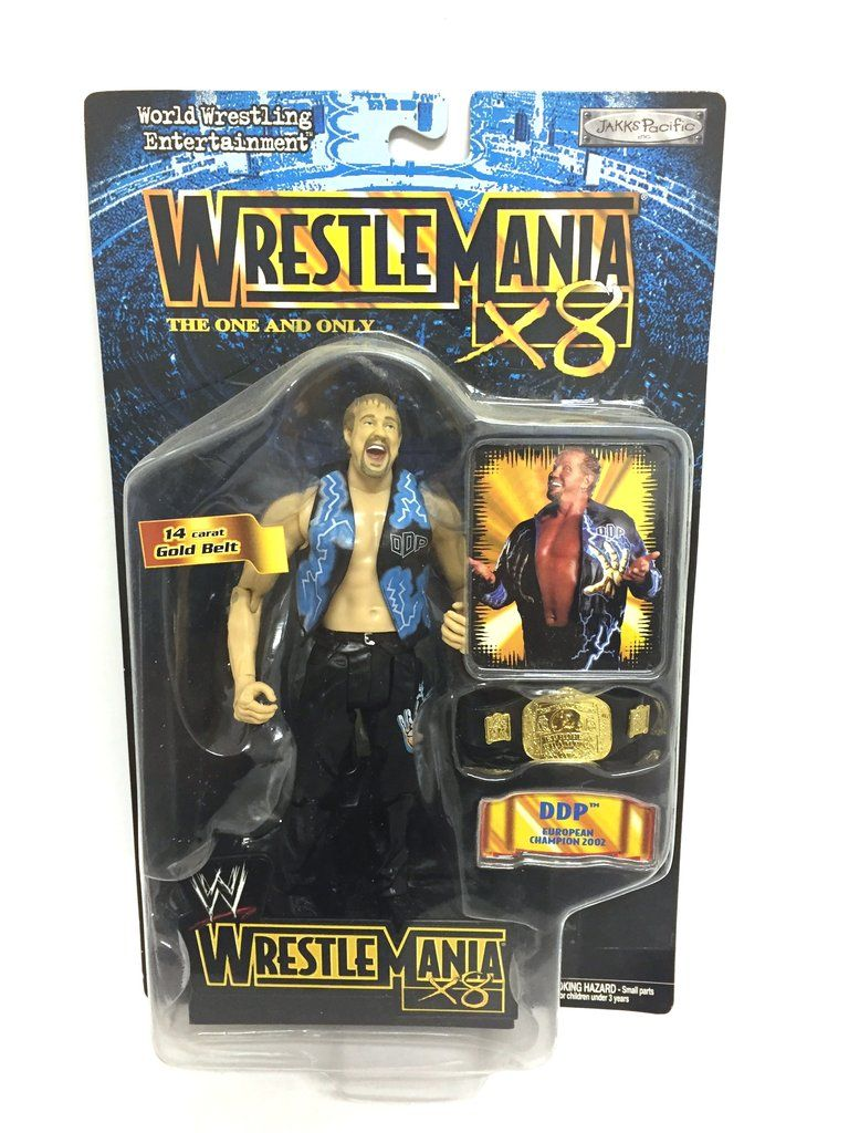 ddc66273f3223 WWF Wrestlemania X8 Limited Edition DDP Action Figure Wrestlemania X8, Gold  Belts, Wwe,