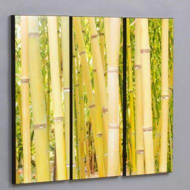 Wilson Studios Three Piece Hawaiian Bamboo Forest Laminated Framed ...