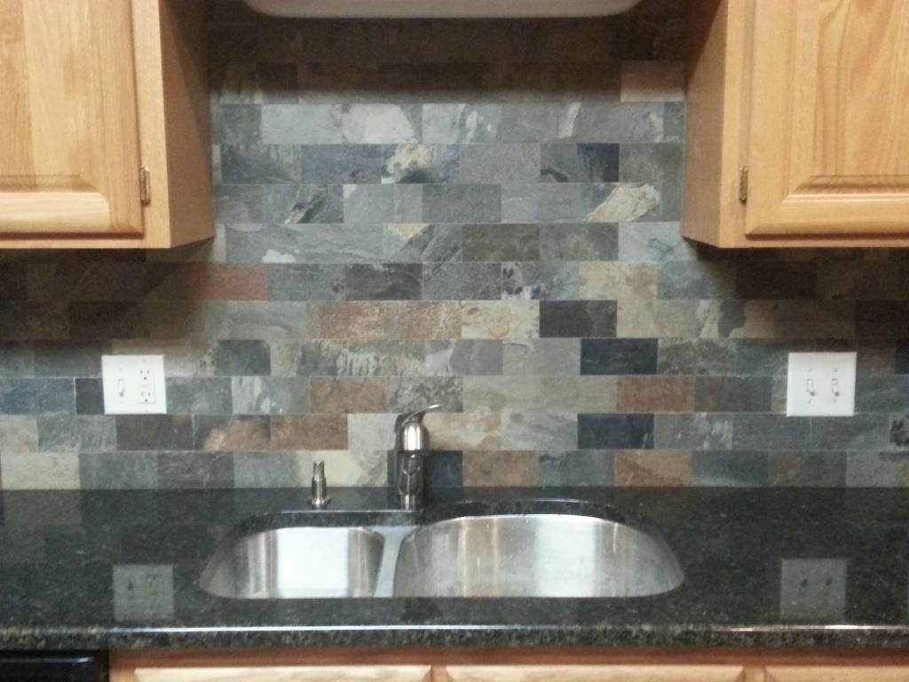Uba tuba granite countertops 30 70 stainless steel sink for Backsplash with granite countertops pictures