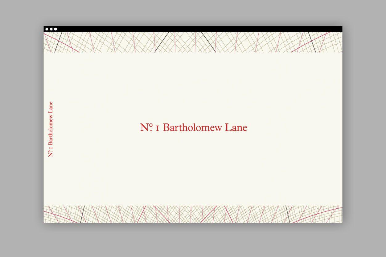No.1 Bartholomew Lane. Security printing – dn&co.